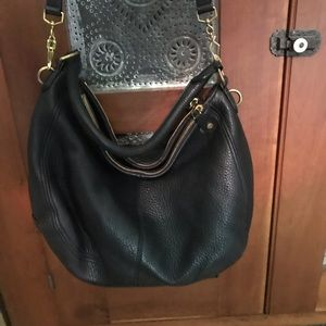 J Crew Pebbled Leather Large Hobo Purse